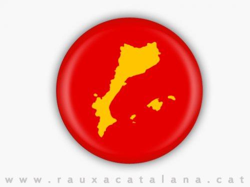 Xapa paisos catalans groc LRG