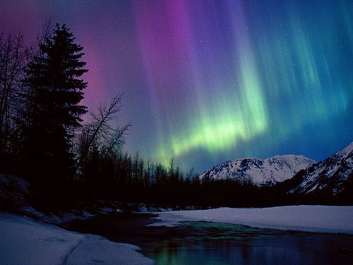 Northern Lights Over Portage River Valley Alaska